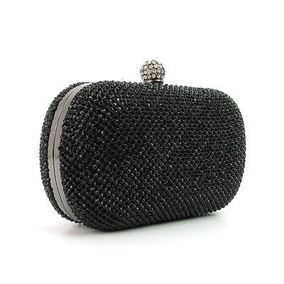 dd6476942974 Клатч-Бокс из камней женский вечерний выпускной черный Rose Heart 2614