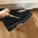 Замшевые модные ботинки ботиночки