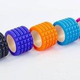 Роллер массажный для йоги мини 7716 5 цветов, длина 10см