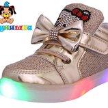 Демисезонные ботиночки для девочек 21-25р Шалунишка