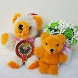 Мишка медведь мохер Shanghai Dolls Factory пара