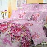 Полуторный комплект постельного белья 3Д Поликоттон