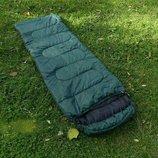 Спальный мешок, спальник, с надувной подушкой, туристический, рыбацкий, универсальный, до -9