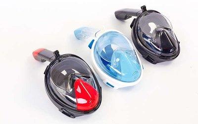 Маска с дыханием через нос для снорклинга Easybreath 118 силикон пластик, размер S-M/L-XL