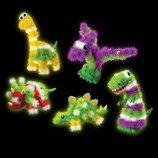 Детский светящийся фосфорный Конструктор-Липучка Банчемс Динозавры