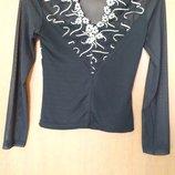 кофта, блузка, черная, М