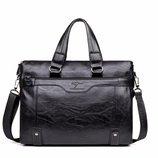 Мужская сумка-портфель под формат А4 Черная Сумка для документов Кс21