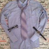 шикарная лиловая рубашка рубаха галстук м-л 46-48 р