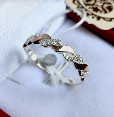 Новое серебряное кольцо золотые пластины куб.цирконий Серебро 925 пробы a4a9d377fd011