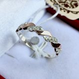 Новое серебряное кольцо золотые пластины куб.цирконий Серебро 925 пробы
