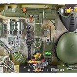 Военный набор комбат Combat force автомат, рация, каска, бинокль, граната 33570