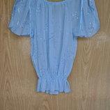 Легкая летняя блузка с коротким рукавом