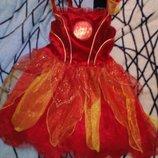 Карнавальное новогоднее платье королевы огня. чертовки Georg на 3-4года