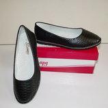 Туфли слиперы балетки для девочек черные 32 - 37