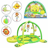 Коврик для младенца 898-12В мягкая черепаха, дуги с подвесками