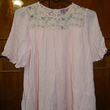 Красивая блуза,туничка на 11-12 лет,152 см, пудрового цвета с розовинкой,сток