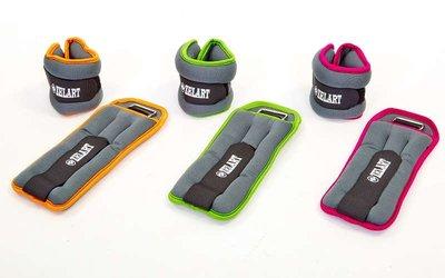 Утяжелители манжеты для рук и ног 5733-2 вес 2x1кг, 3 цвета наполнитель металлические шарики