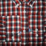 Мужская рубашка цветная в клетку Marks&Spencer XL
