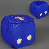 Корзина для игрушек синяя Бабочка