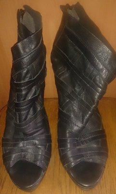 8179aed82d19b0 стильні чорні босоніжки zign шкіра р39: 145 грн - женские босоножки ...