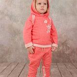 Гламурный спортивный костюм для девочки, 1,5-5 лет