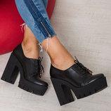 Ботильоны - ботинки на каблуке из натуральной кожи, замши на каблуке В наличии Новинка