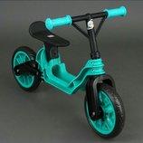 Пластиковый беговел байк Орион 503 бирюзовый велобег