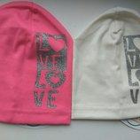 Трикотажная шапка для девочки Love 50-54 см