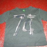 футболка с длинным рукавом 12мес