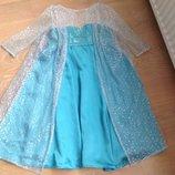 Карнавальное платье 7-8 л и 6-7 л девочке Эльза Анна принцесса детское Дисней