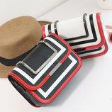 Fashin сумка-клатч с металлической ручкой В Наличии
