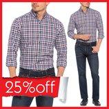 Мужская рубашка LC Waikiki в сине-бело-красные полоски