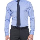 Ярко-Небесная мужская рубашка LC Waikiki в мелкий горошек