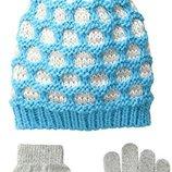 Набор шапка и перчатки Pink Platinum. Размер 4-6