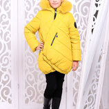 Яркая Зимняя куртка для девочки Элис 128-152р