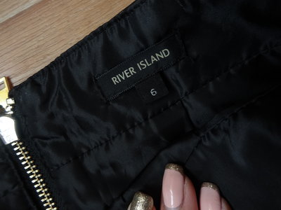 356807cb695f Черная кожаная юбка- карандаш River Island XS- S размера. Previous Next