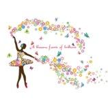 Интерьерная наклейка Танцующая балерина