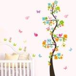 Интерьерная наклейка «Дерево с птичками»