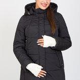 Очень теплая и стильная зимняя куртка для беременных, черная