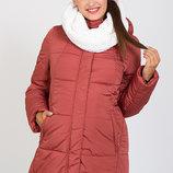 Очень теплая и стильная зимняя куртка для беременных, пыльный кедр