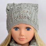 Ажурная шапочка Амели для девочек от 3 лет.