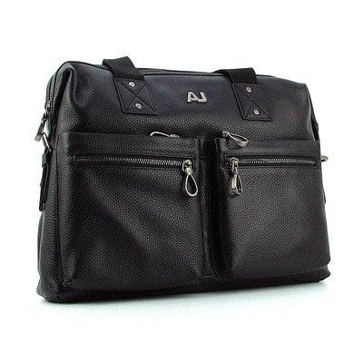 Портфель мужской кожаный для документов черный Giorgio Armani 8919-3