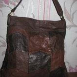 Коричневая вместительная сумка H&M
