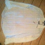 Мужская белая рубашка на змейке. 50% льна 50% хлопка. CO'S. XL