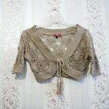 Кофта свитер р.36-40, LIV collection вязанная женская болеро девочка дешево