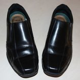 фирменные туфли-макасины 27см. нат.кожа