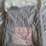 Зимний Конверт чехол для новорожденного на меху для девочки