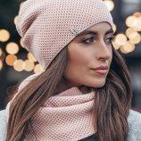Комплект шапка хомут. Разные расцветки
