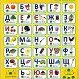 Интерактивный плакат Букваренок украинский 7031