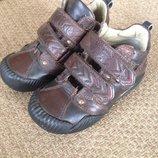 Кожа удобные ботинки кроссовки geox 26 разм 16,5 см